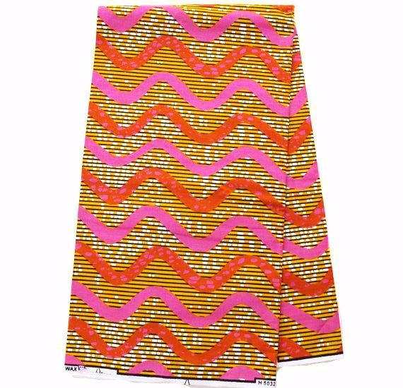 WP1044 - African Fabric , pink 6 yards