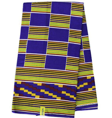KF322 - Ghana Kente Fabric, ATL fabric, 6 yards