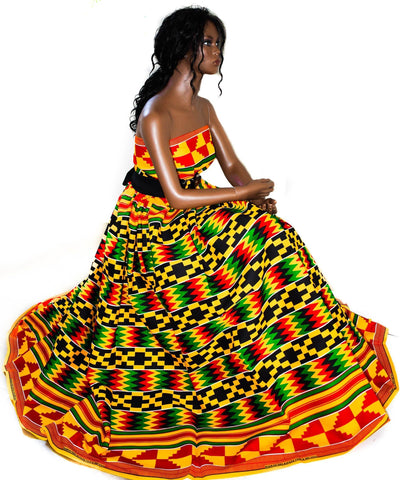 African fabric by the yard/ Made in Ghana/ KF325B