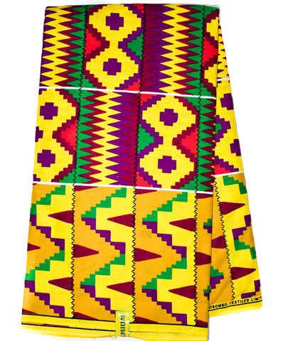 African fabric by the yard/ Made in Ghana Kente cloth/ KF323B