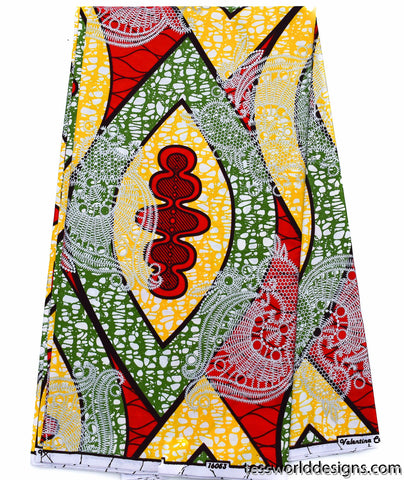 African print Fabric, 6 yards -WP1103