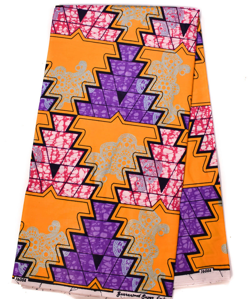 Orange African Fabric  6 yards WP1090