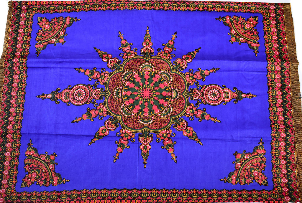Dashiki Fabric by the panel, Royal blue, Star - DS12B - Tess World Designs, LLC