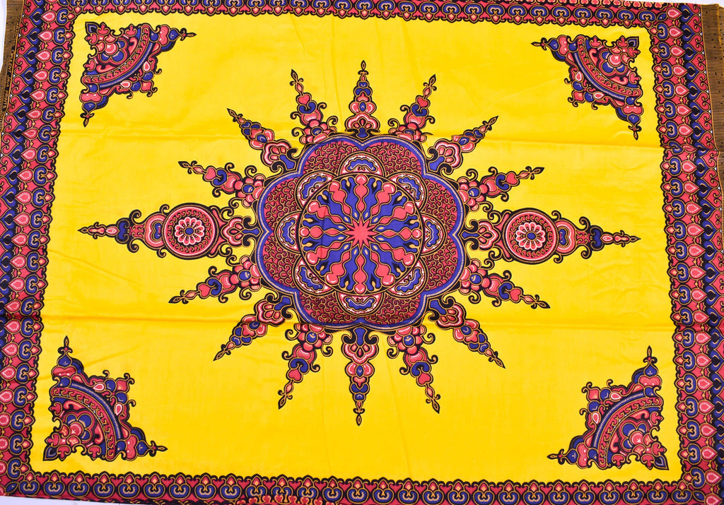 Dashiki by the panel, yellow small design, DS90B - Tess World Designs, LLC