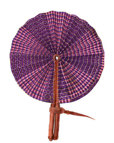 Ankara Fabric fan, purple - AC08