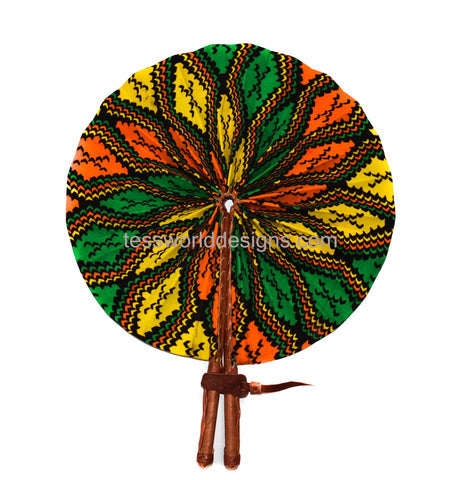 Ankara Fabric fan, mami - AC12