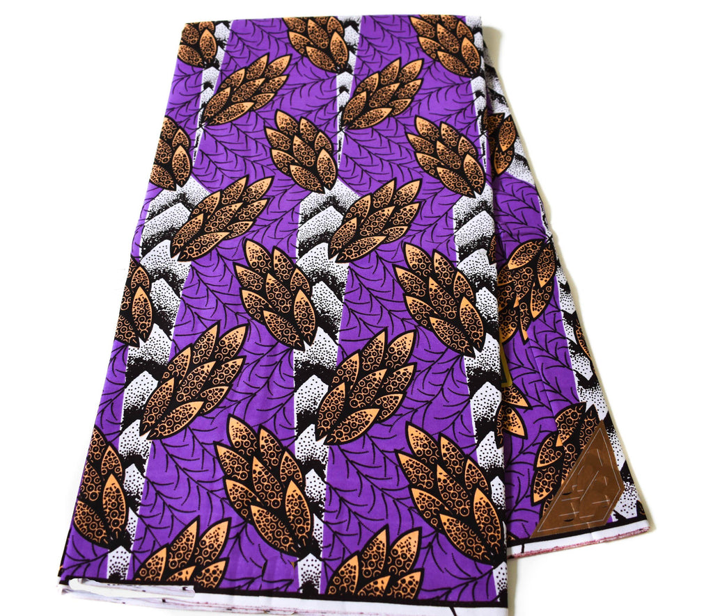 African fabrics 6 yards/ Ankara fabric/ purple Cones fabric WP1201 - Tess World Designs, LLC