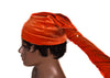 headwrap, Stretch Velvet tubular, beadless red HT226