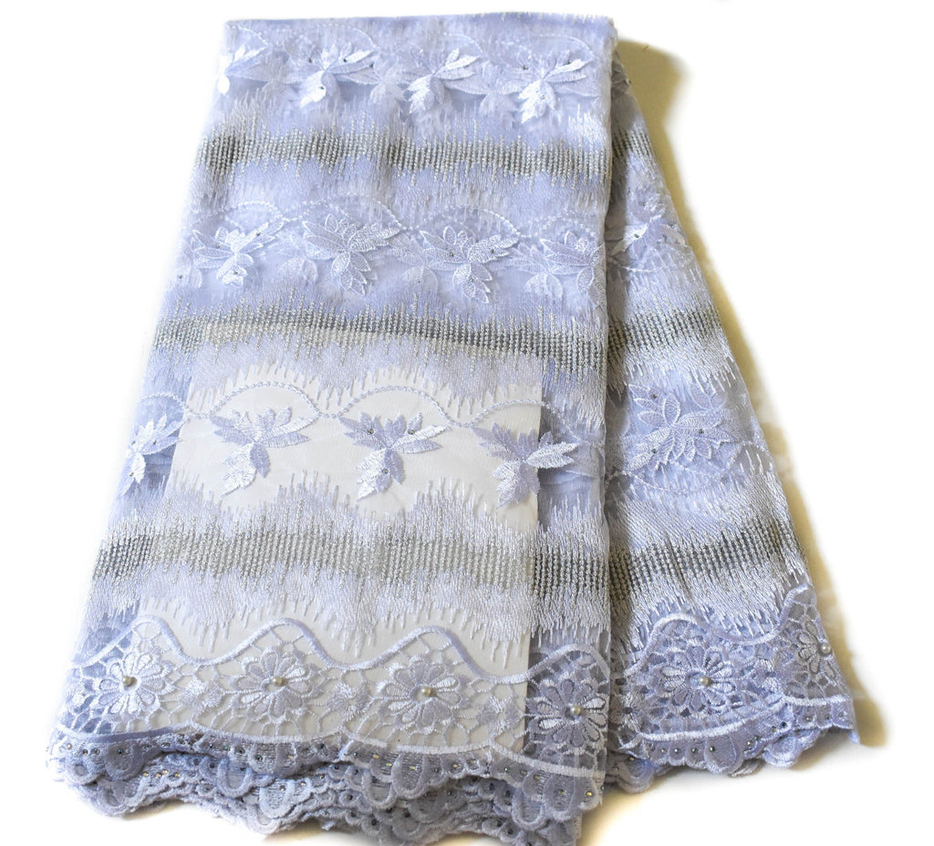 White African wedding lace/ African lace fabric / French lace/ African lace fabrics/ Net lace fabric/ Nigerian lace/ 5 yards NL59