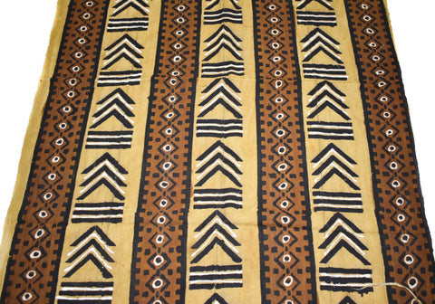 Authentic Hand woven Mudcloth Fabric, Gye Nyame MC225
