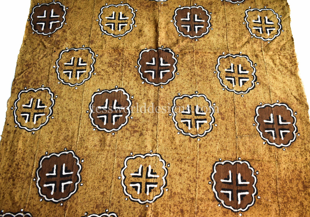 Authentic Hand woven Mudcloth Fabric, koku MC252 - Tess World Designs, LLC