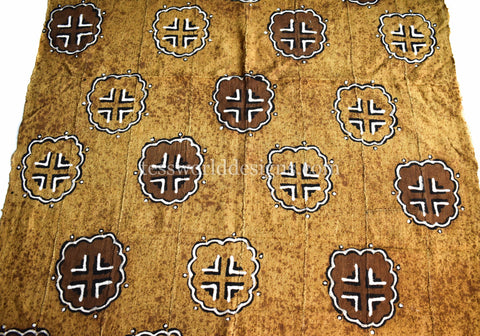 Authentic Hand woven Mudcloth Fabric, koku MC252