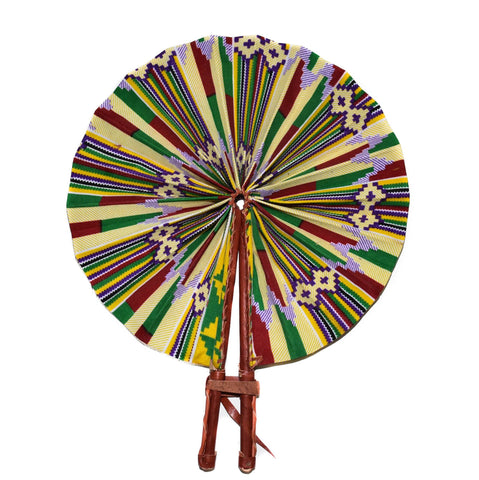 Ankara Fabric fan, agoo - AC24