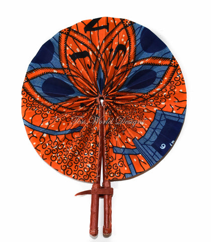 Ankara Fabric fan, Afua - AC25