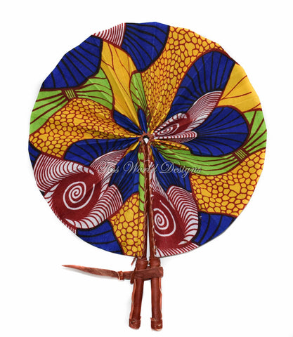 Ankara Fabric fan, Amina AC33