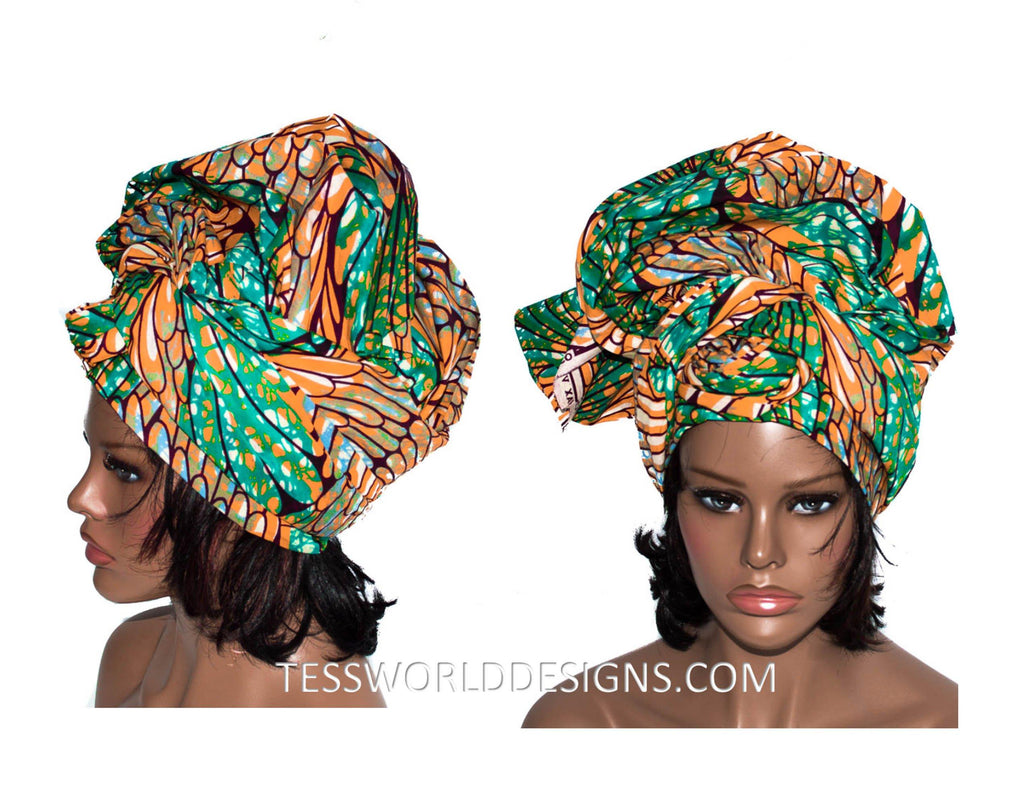 African Head Wrap for Women - HT131 - Tess World Designs, LLC