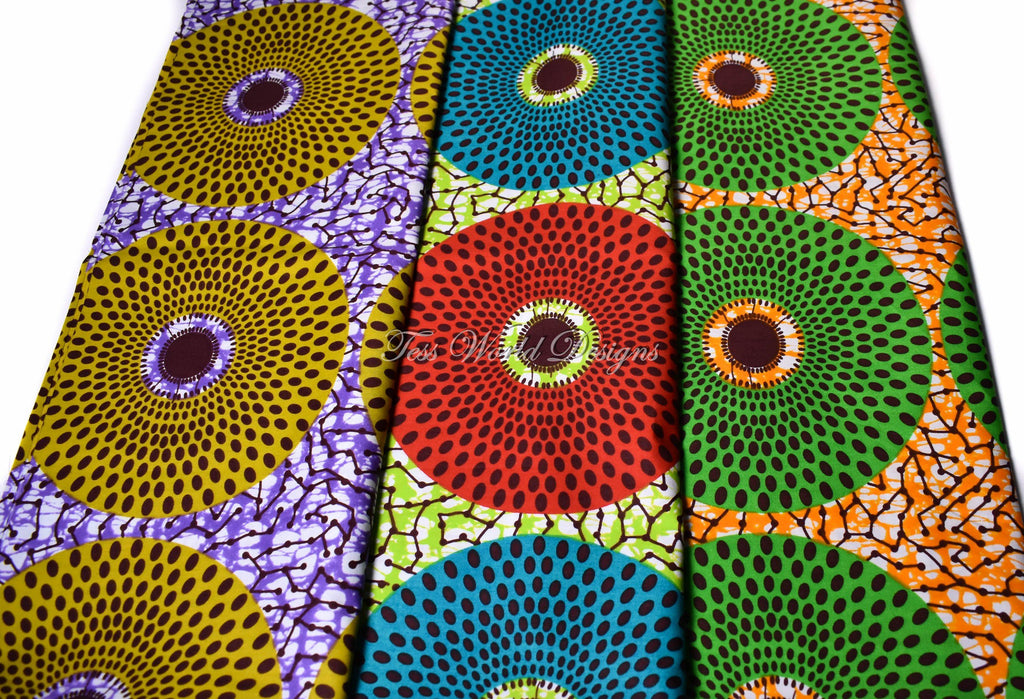 3 half yard bundle, African fabric WB167 - Tess World Designs, LLC