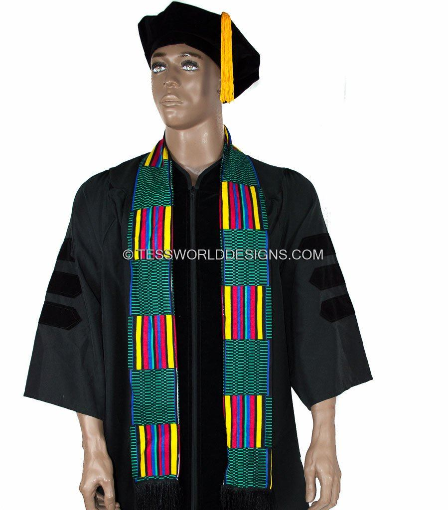 KS06 - Handmade Kente Stole, Sash - Tess World Designs