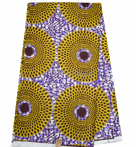 Ankara Fabric by the yard, circle WP1149B