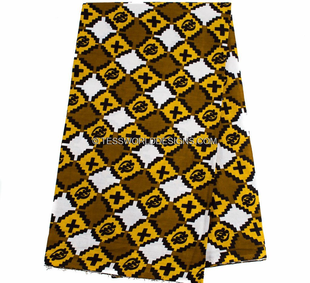 TP34 - Traditional Gye Nyame Fabric from Africa 6 yards - Tess World Designs
