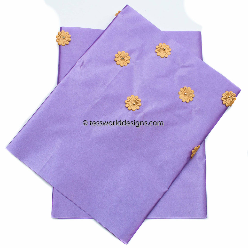 GE11 - Purple Gele head wraps set - Tess World Designs, LLC