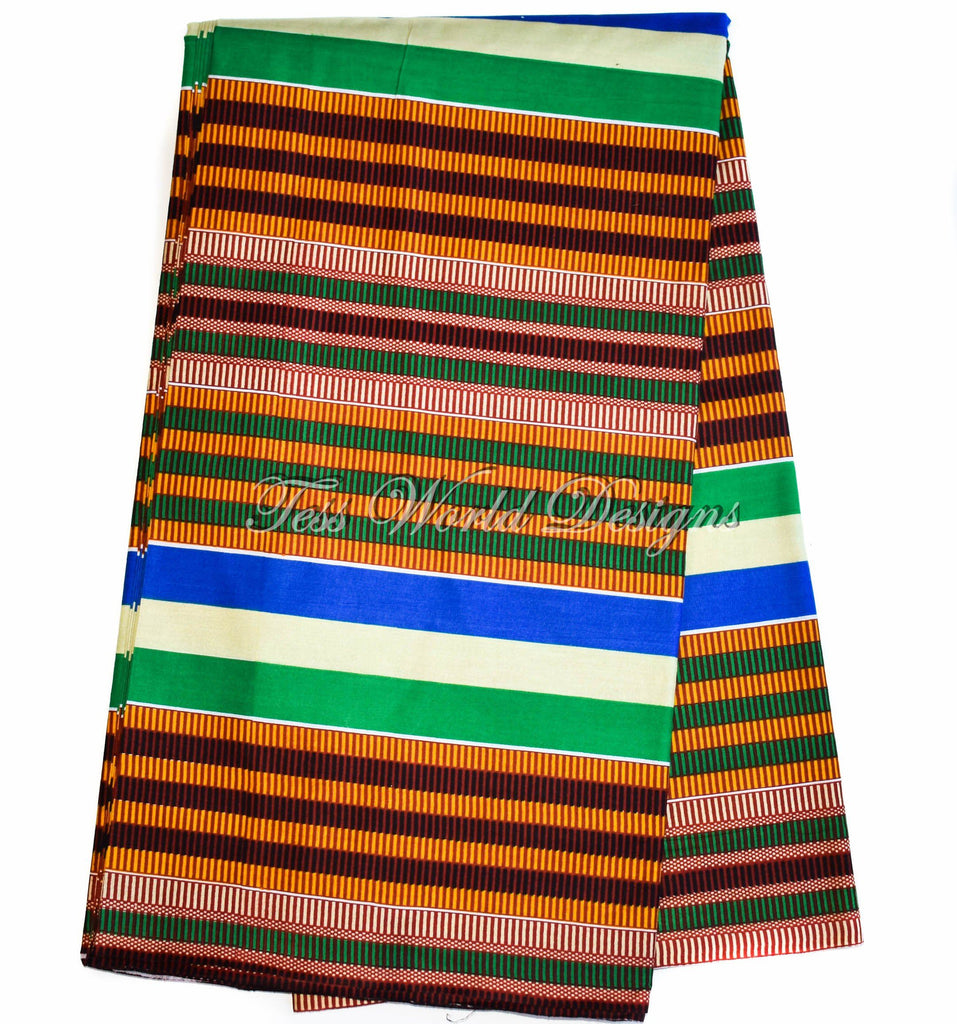 Kente fabric from Africa, sod per yard strip KF333B