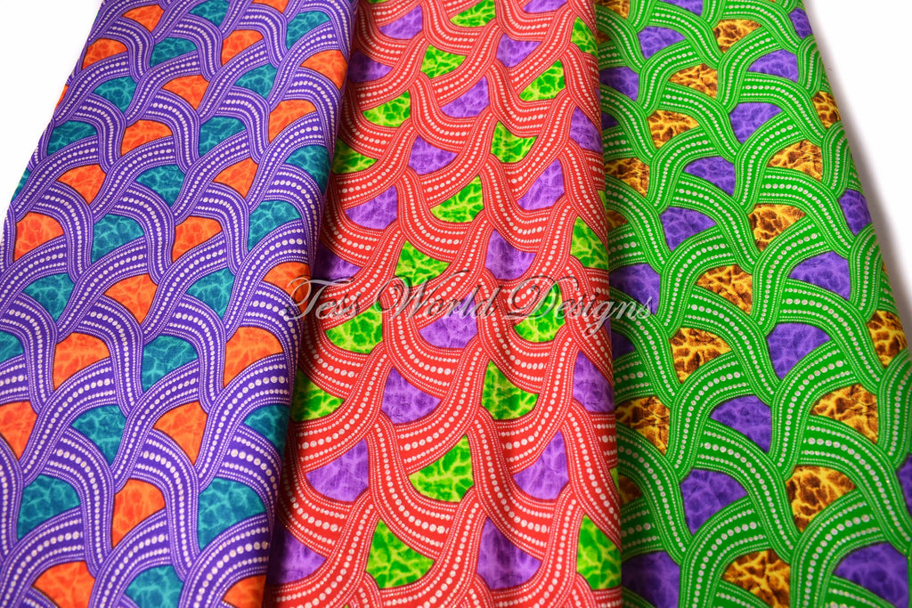 African fabric  WB171 - Tess World Designs, LLC