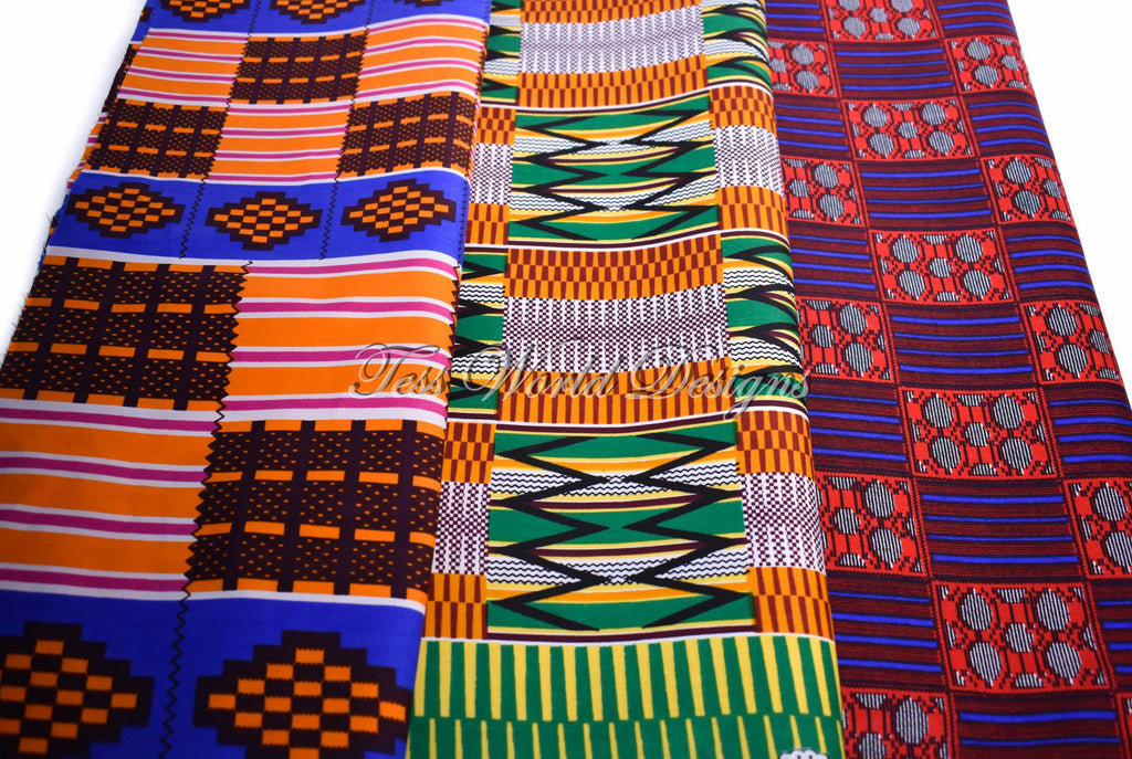 3 half yard kente bundle, abena KB158 - Tess World Designs, LLC