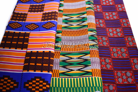3 half yard kente bundle, abena KB158