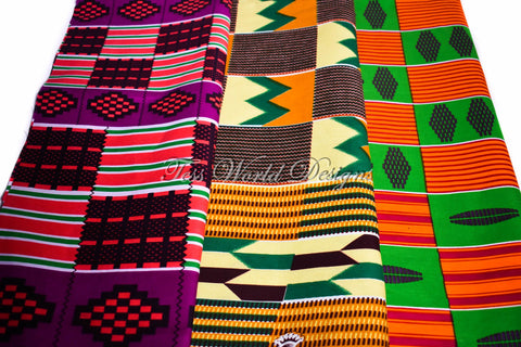 3 half yard kente bundle, Mulu KB157