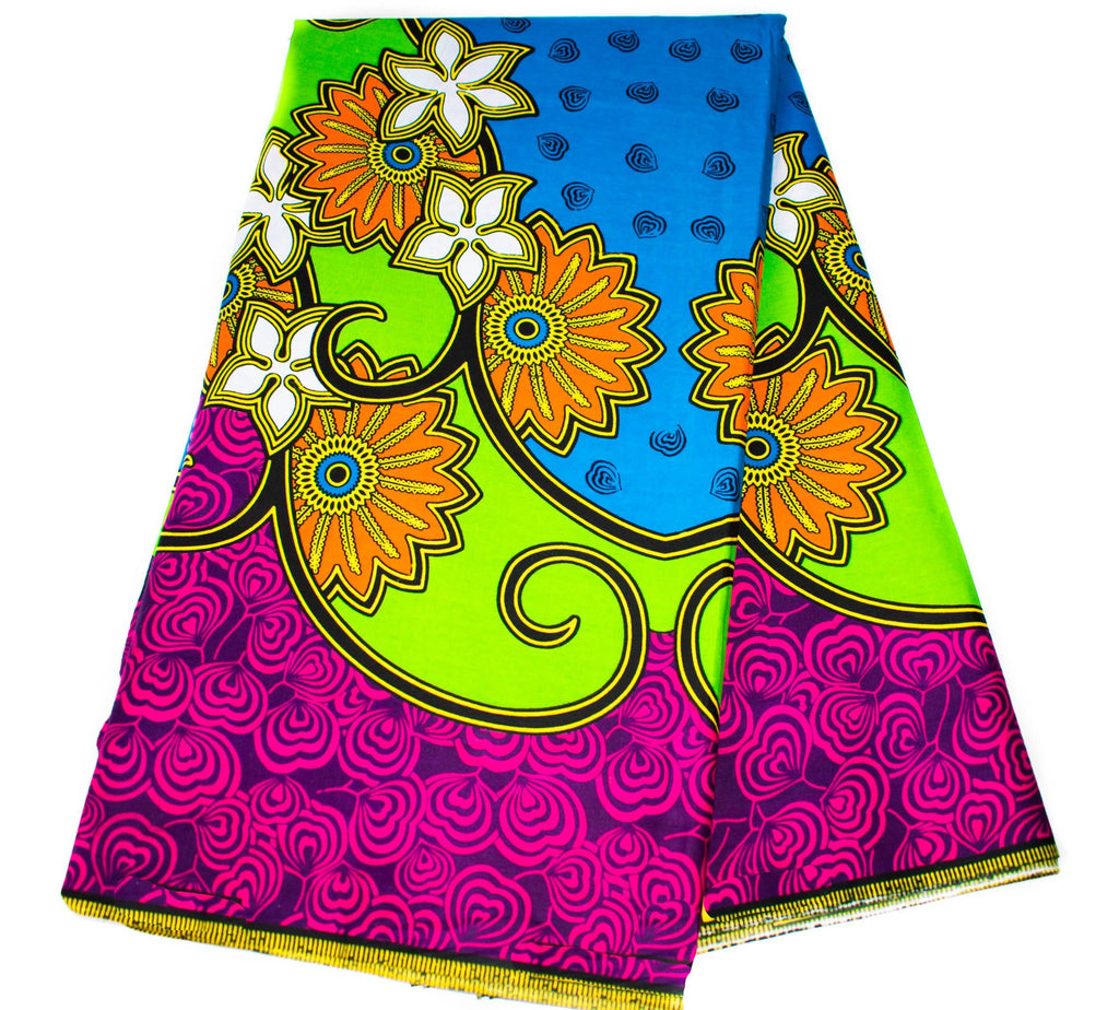 Quality Ankara Fabric, 6 yards/ Supreme Wax Holland/ Best African fabric Wholesale/ Ankara print fabric/ Ankara fabric/ WP1206