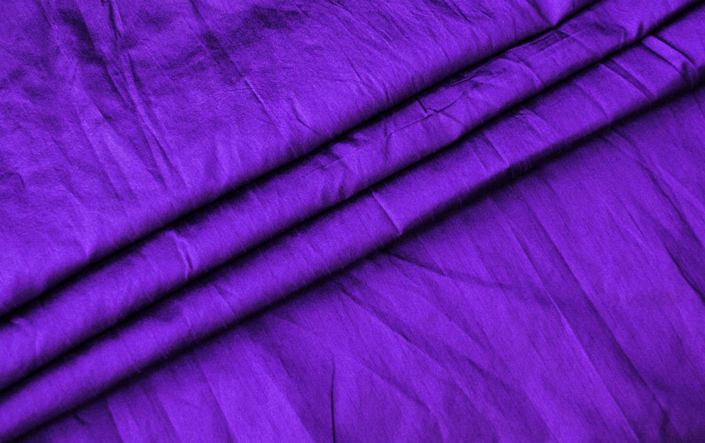 B160B -Purple dupioni silk fabric per yard - Tess World Designs, LLC