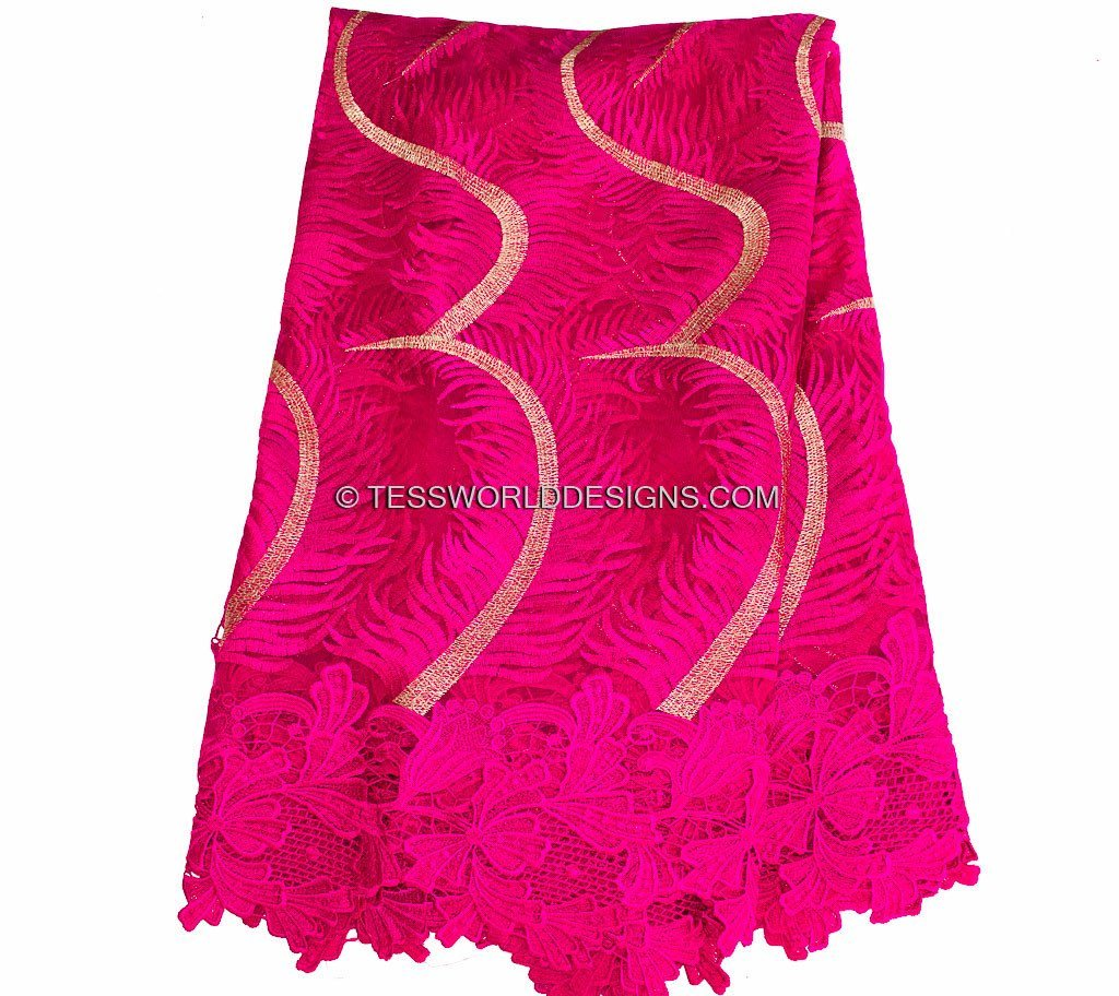 NL17 - Fuchsia Tulle Net Lace fabric  5 yards - Tess World Designs  - 2