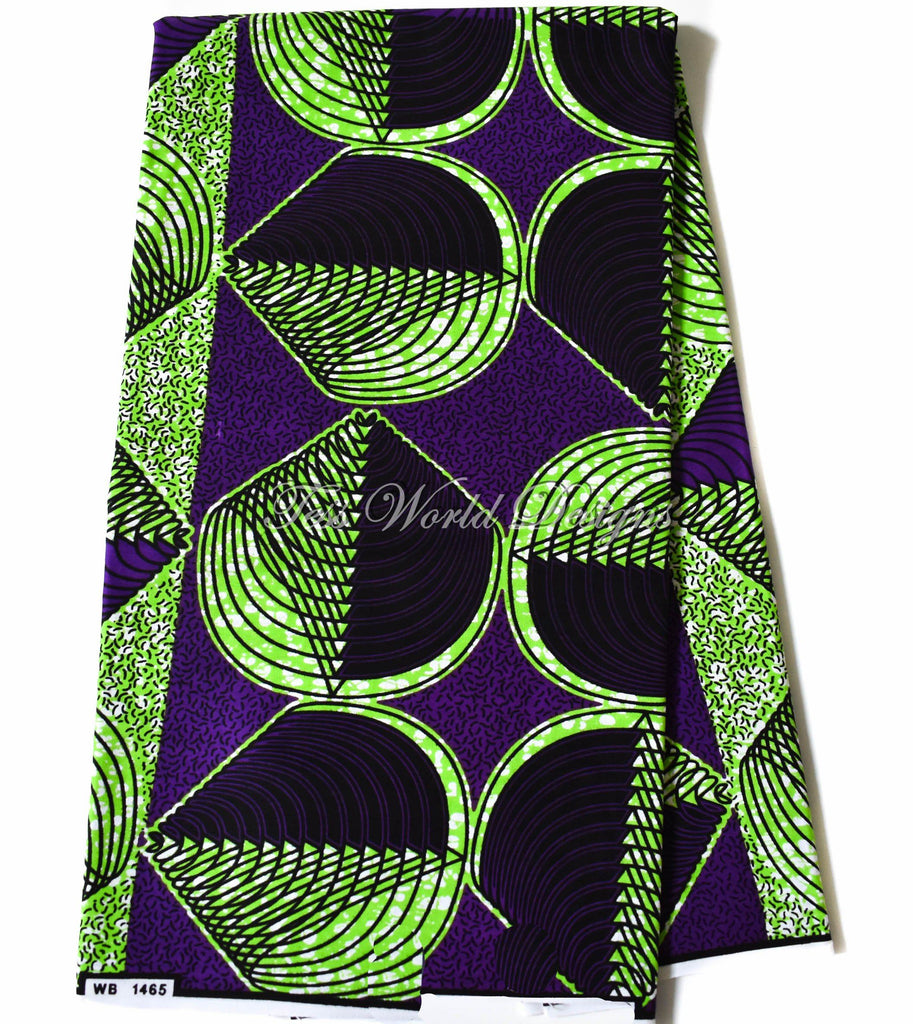Supreme Wax Holland African green clam, 6 yards WP1157