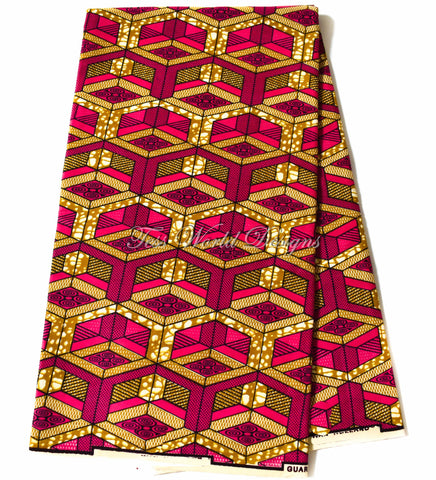 Supreme Wax Holland African fuchsia block, 6 yards WP1155