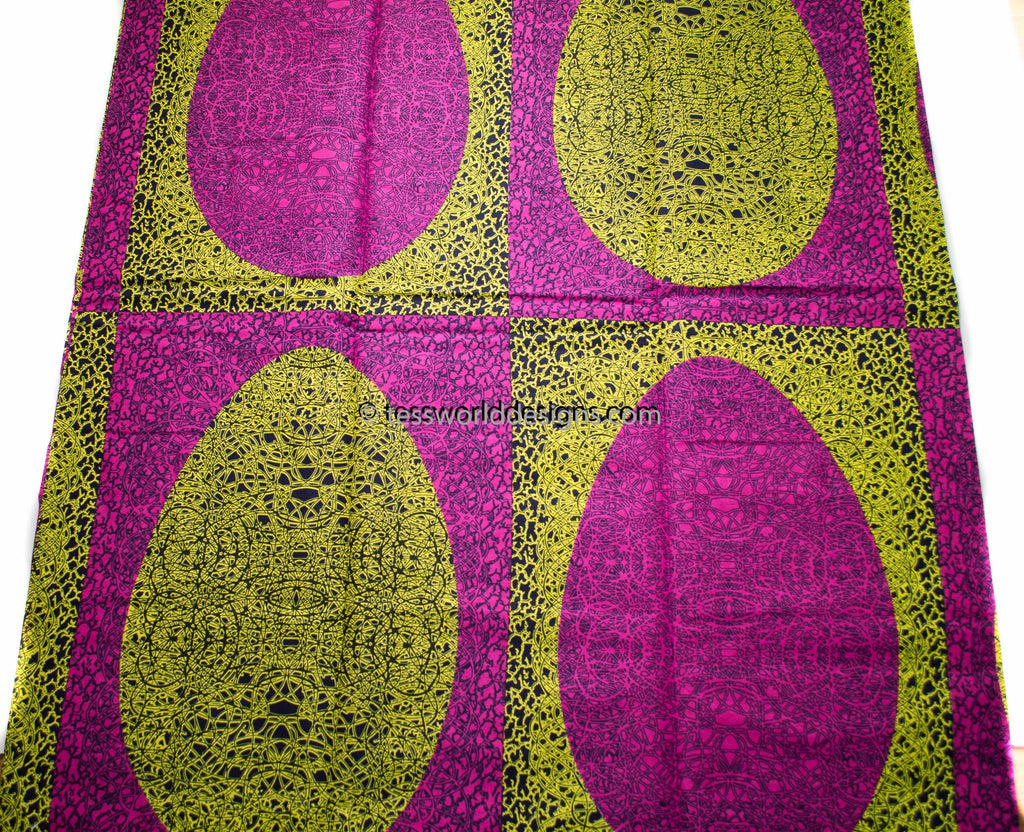 African fabric 6 yards, Ankara fabric WP1000 - Tess World Designs, LLC