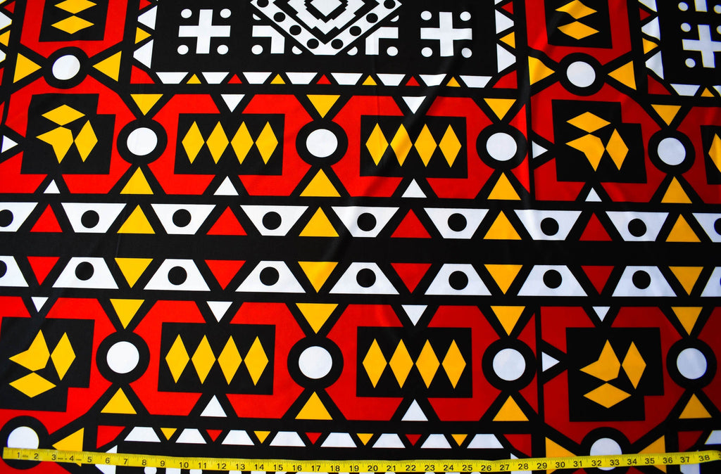 Angolan Samakaka 4 way Stretch Fabric, per yard ST10 - Tess World Designs, LLC
