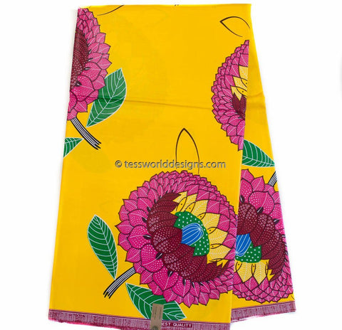 WP981 - African Fabrics, sunflower 6 yards
