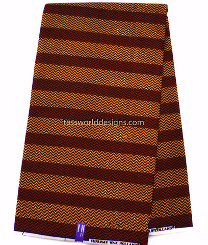 African Fabric by the yard, orange/dark red WP1051B