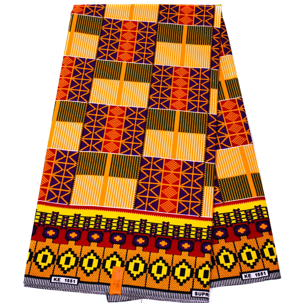 Kente Fabric by the yard, kente, KF339B