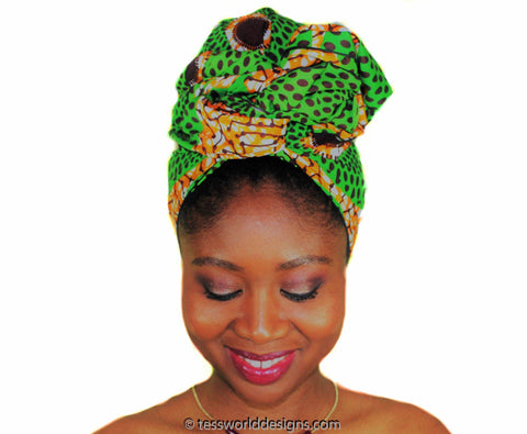 HT171 - Head Wraps, green/orange