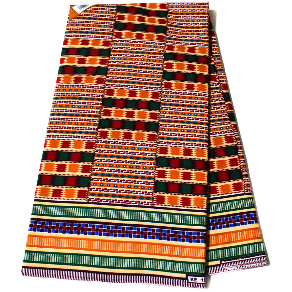 Kente Fabric per yard, kente kongosa  KF342B