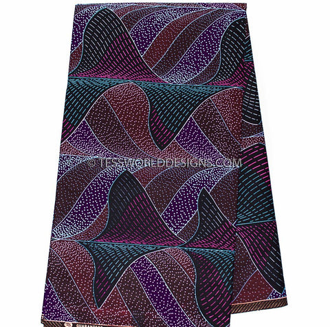 WP919 - African Fabrics, Waves 6 yards