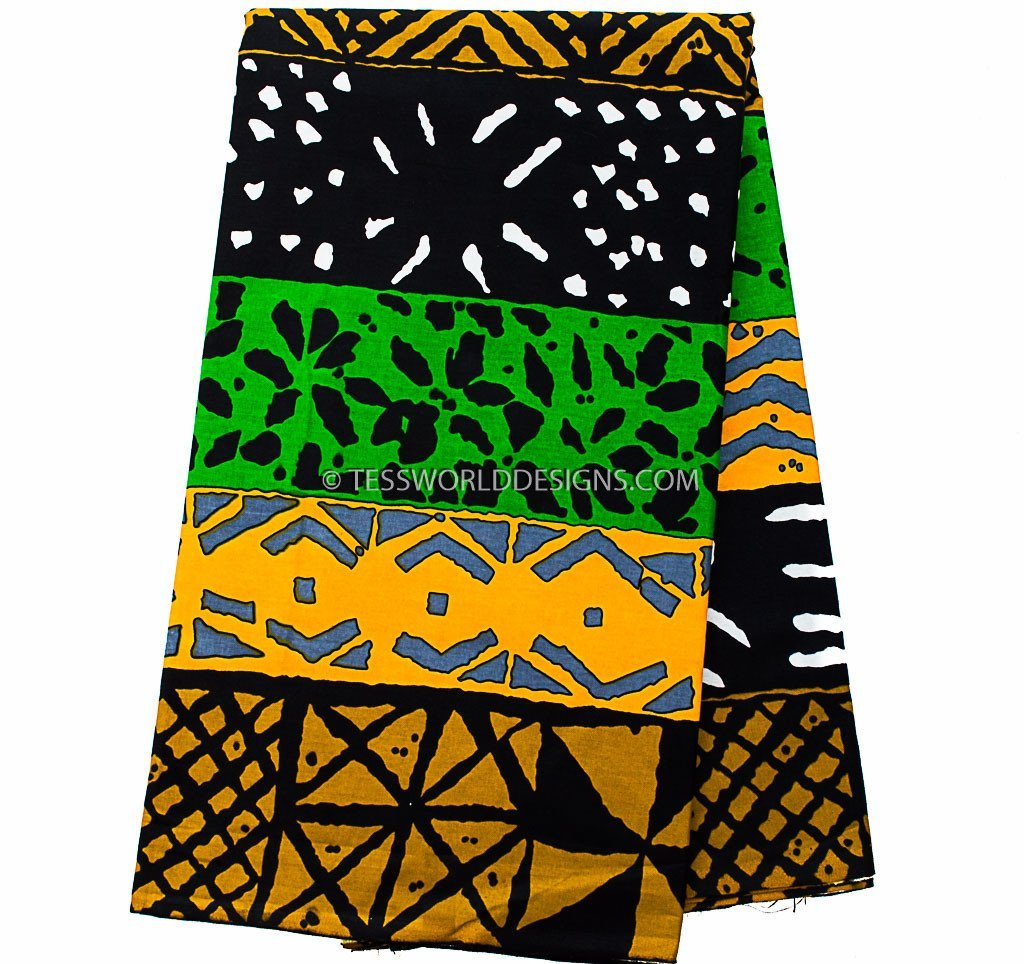 WP131- Mudcloth print from Africa 6 yards - Tess World Designs