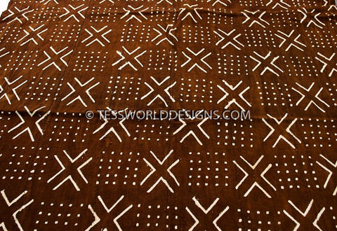 MC190 - Rusty Mudcloth Fabric , from Mali - Tess World Designs