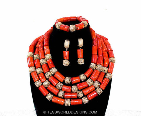 JW01- African jewelry set - Tess World Designs