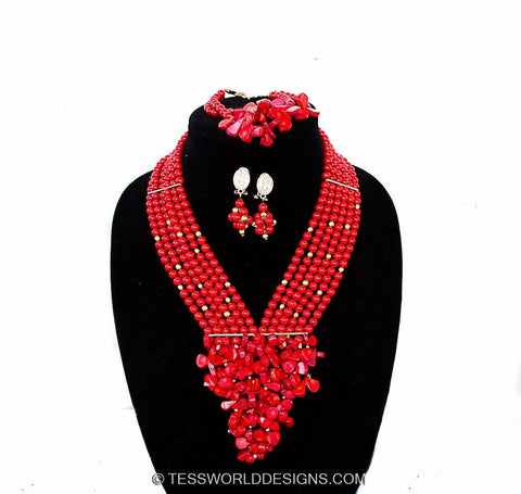 JW03 - African jewelry set - Tess World Designs