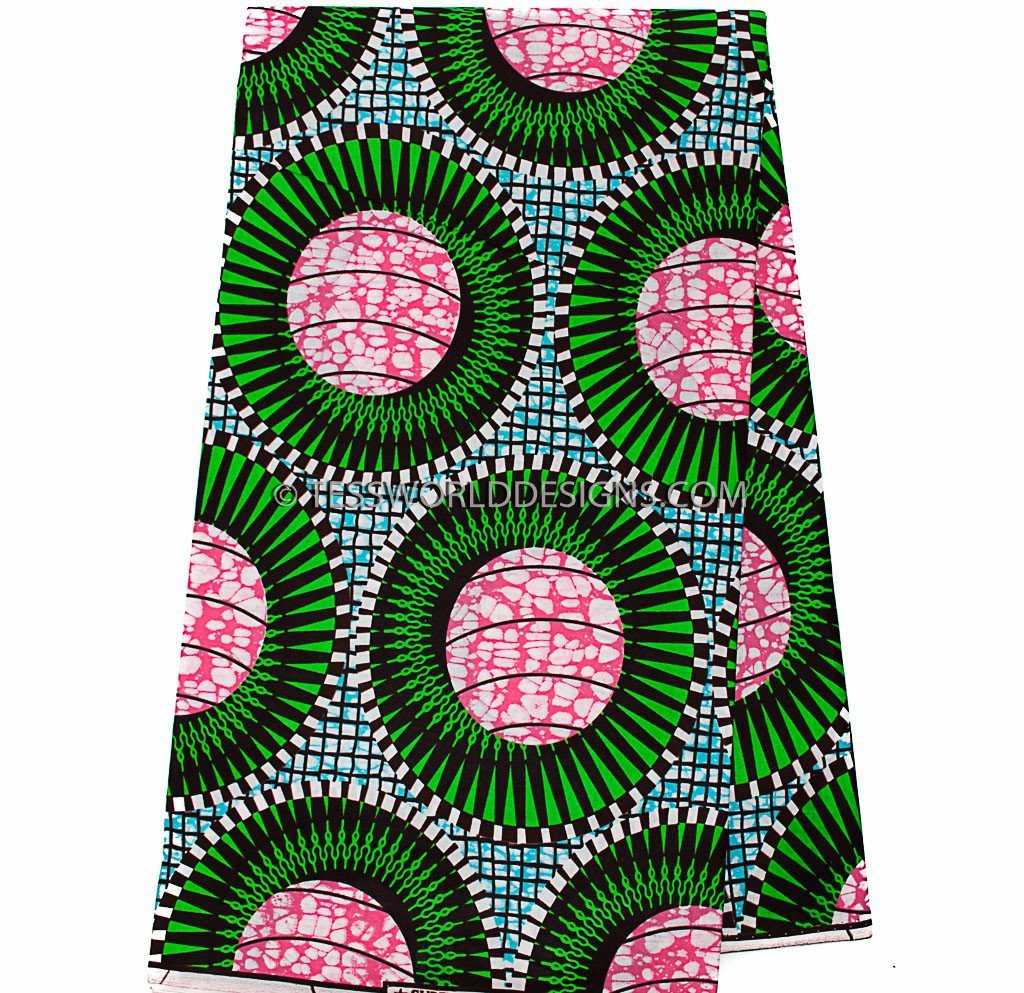 WP924 - African Fabrics , Coil 6 yards - Tess World Designs