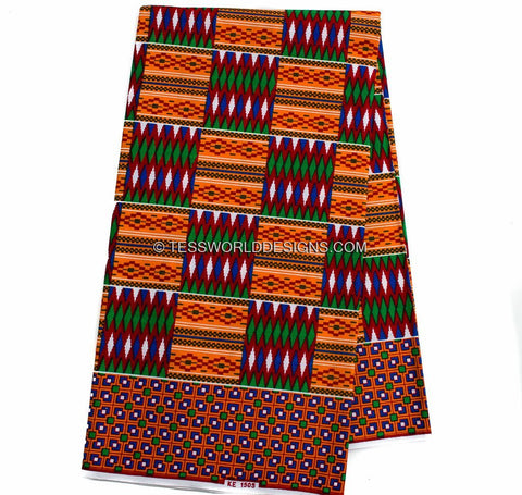 KF230 - Kente Fabric,  Abena 6 yards - Tess World Designs