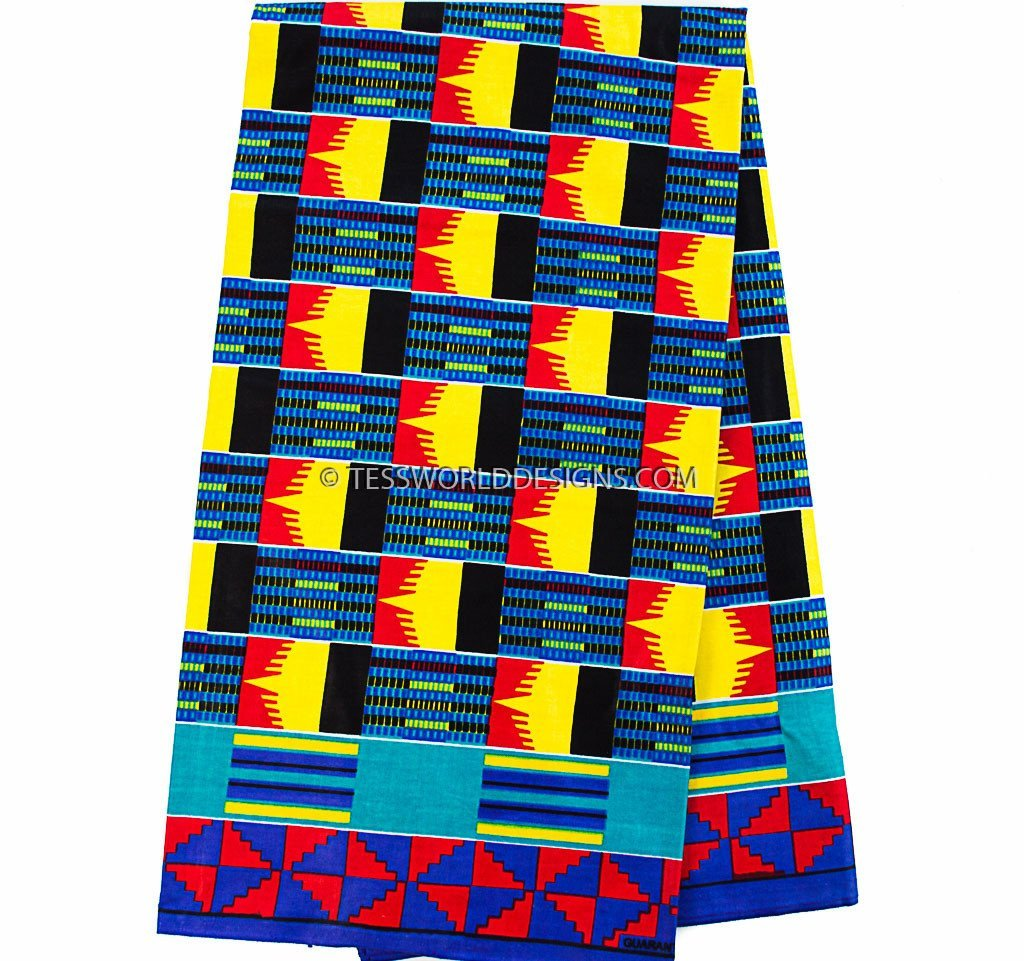 KF255 - Kente Fabric, korkor 6 yards - Tess World Designs